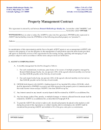 contract management template with 10 property management contract