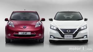 nissan leaf japan models side by side new and old nissan leaf compared