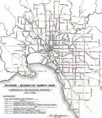 melbourne tram map melbourne tram museum map of m mtb general scheme 1923