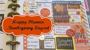 happy planner plan with me thanksgiving layout