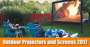 outdoor hq backyard screens and projectors