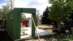 assembling the main walls of a studio shed youtube