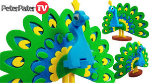 diy how to make 3d peacock bird bird making craft for kids
