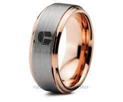 wars wedding bands wars boba fett tungsten wedding band ring mens womens brushed