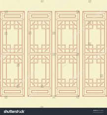 Door Pattern Vector Traditional Chinese Classic Window Door Stock Vector