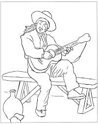 mia coloring book spanish guitar player