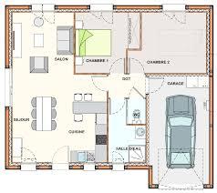 plan de maison avec cuisine ouverte maison 2 chambre salon cuisine