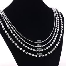 metal ball chain necklace images Width 1 6mm 2mm 2 4mm 3 2mm 4mm 5mm stainless steel round ball jpg