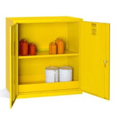 Chemical Storage Cabinets Mini Hazardous Substance Cabinet 1 Shelf These Robust Metal