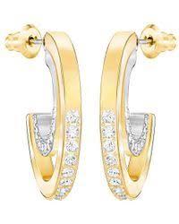 sheena pierced earrings swarovski sheena pierced earrings 1144253 in metallic lyst