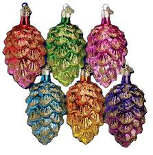 world ornaments assorted ponderosa pine cone 48012