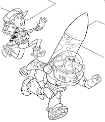 coloring buzz and woody coloring pages