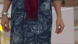 isaac mizrahi live true denim floral print shirt dress page 1
