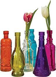 Colored Bud Vases Amazon Com Decorative Colored Vintage Glass Bottles For Bottle