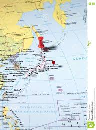 Japan World Map by Pins On World Map Stock Photo Image 72615215