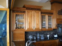 mix of glass and solid kitchen cabinet doors cabinet