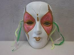 porcelain mardi gras masks one 1 porcelain mardi gras mask white pink gold 04x4 14 50