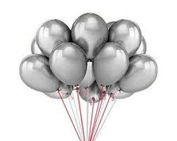 silver balloons silver balloons etsy