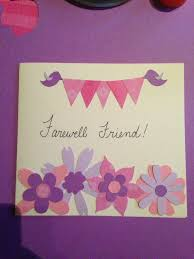 diy farewell card made from construction paper diy crafts