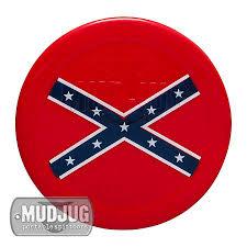 Rebel Flag Picture Can Lid Mud Jug Confederate Flag