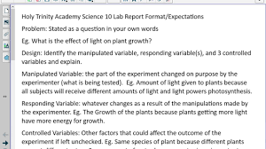 how to write a proper lab report high science youtube