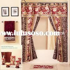 shower curtains with valance and tiebacks home design ideas fancy shower curtains with valance and ruffled