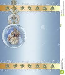christmas nativity ornament gold border royalty free stock photos