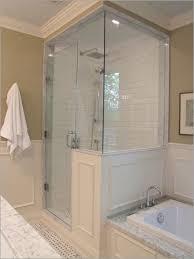 25 Shower Door Half Shower Doors Awesome Best 25 Half Wall Shower Ideas On