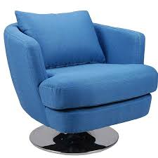 Contemporary Swivel Armchair Penny Modern Fabric Swivel Chair Blue By Moe U0027s Home