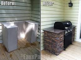cheap outdoor kitchen ideas diy dried up stream beds 6 veneer plywood stone veneer and plywood