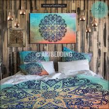 Teal Single Duvet Cover Mandala Bedding Personalized Bohemian U0026 Mandala Bedding Sets