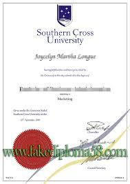 southern cross university degree sample australia fake