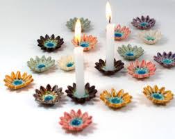 ceramic candlestick holder etsy