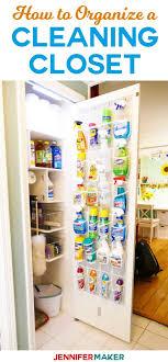 cleaning closet ideas cleaning closet organization and tips jennifer maker