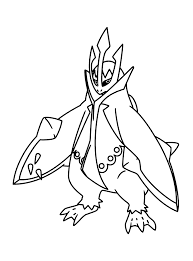 pokemon coloring pages empoleon learn language me