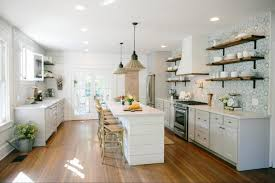joanna gaines farmhouse kitchen with cabinets the best fixer kitchens