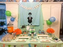 little man dessert table for a boy baby shower dessert table