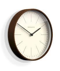 mr clarke dark wood minimalist wall clock