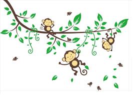 monkey cartoon tree