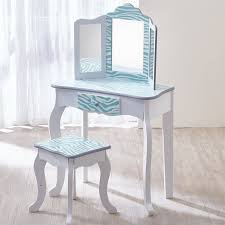 Turquoise Vanity Table Teamson Kids Fashion Prints Vanity Table Stool Set With Mirror