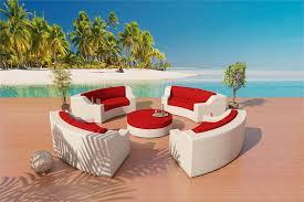 fiber sofa sectional patio furniture set 1