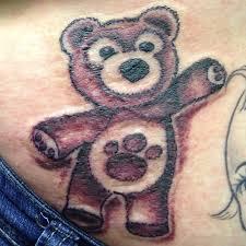 teddy bear tattoo on waist tattoo designs tattoo pictures