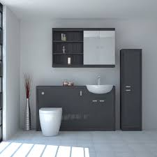 Bathroom Fitted Furniture Hacienda 1500 Fitted Furniture Pack Grey Buy At Bathroom City
