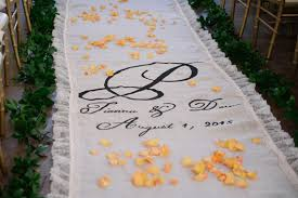 burlap wedding aisle runner 15ft white burlap lace aisle runner and 5 x 5 rug 2305962