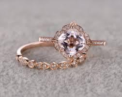 rose gold art deco engagement rings wedding promise diamond