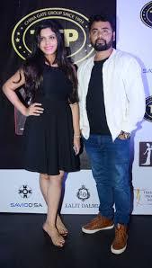 manasi athavade and suraj chitre at the karaoke world championship