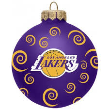 los angeles lakers 3 swirl ornaments sports merchandise