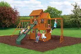cedar summit barrington wooden play set walmart backyard