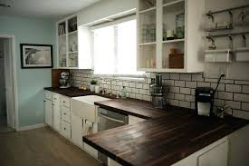 white kitchen cabinets with butcher block countertops dark wood countertops white kitchen with butcher block google search