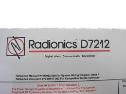 Security System Wiring Diagram Radionics D7212 Security System Digital Alarm Control Panel